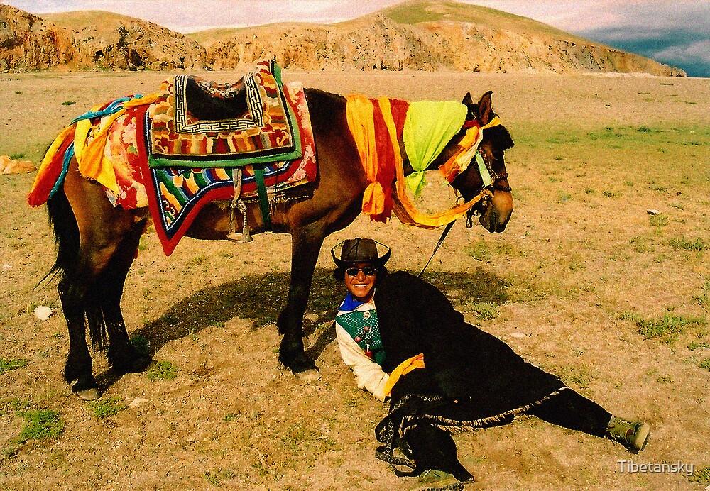 Horse man-Tibet by Tibetansky