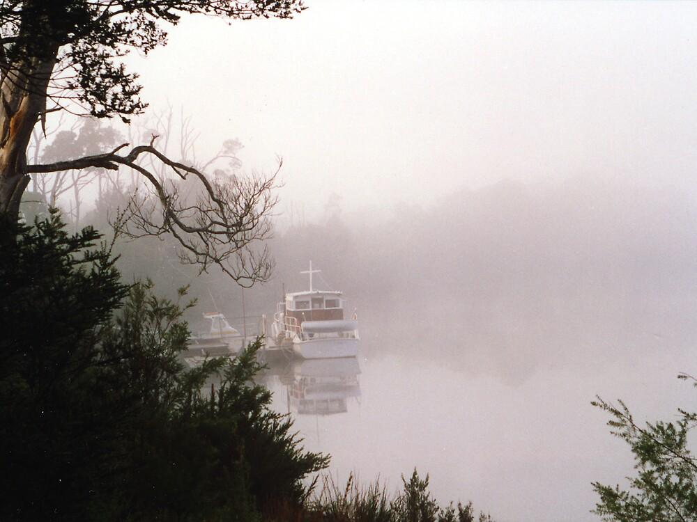 Boat In Mist by Keith G. Hawley