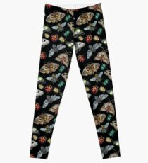 Lino Print Bugs and Insects Leggings
