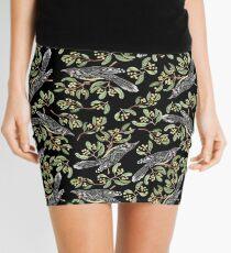 Lino Print - Wattle Bird Mini Skirt