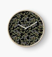 Lino Print - Wattle Bird Clock