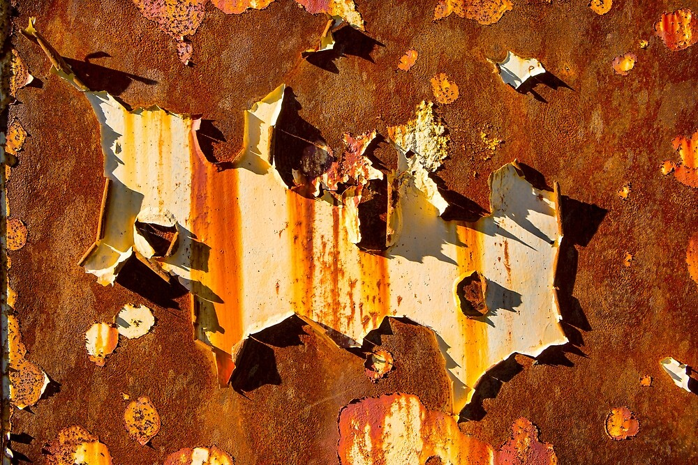 Paint on rust by Dave Hare
