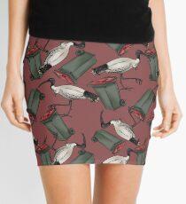 Bin Chicken - Maroon Mini Skirt