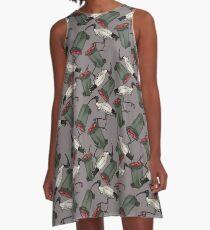 Bin Chickens - Grey A-Line Dress