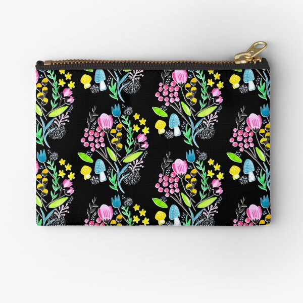 Wildflowers - Midnight Meadow Zipper Pouch