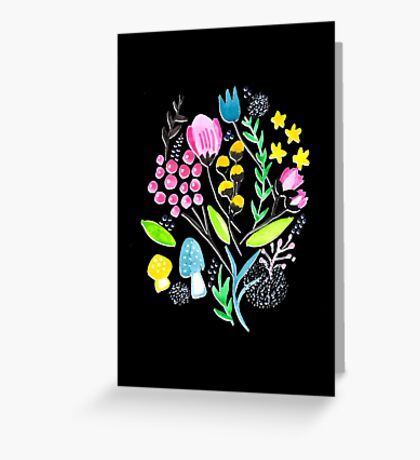 Wildflowers - Midnight Meadow Greeting Card