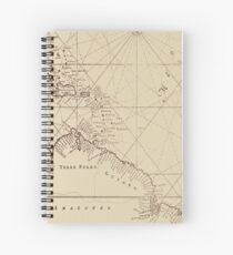 Uncharted Map Design Spiral Notebook