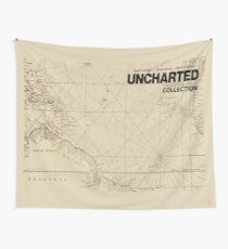 Uncharted Map Design Wall Tapestry