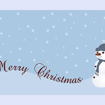 Merry Christmas Snowman by NaturesPixel