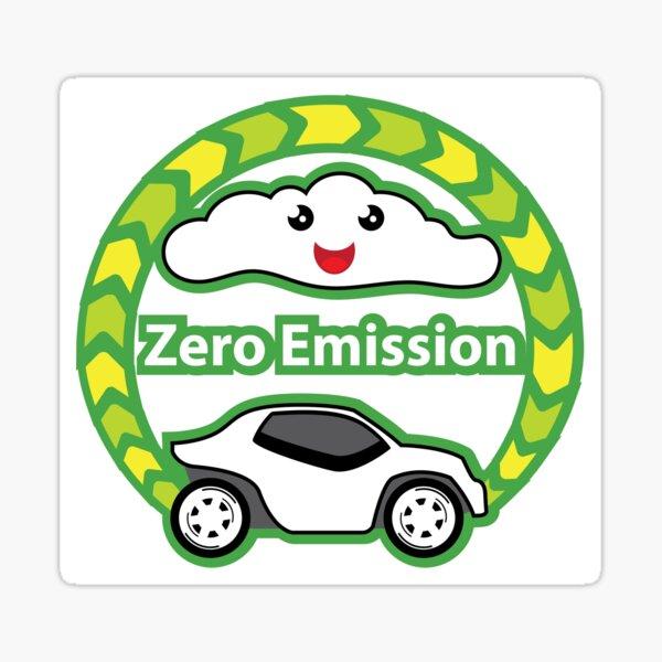 Null-Emissions-Fahrzeug Sticker