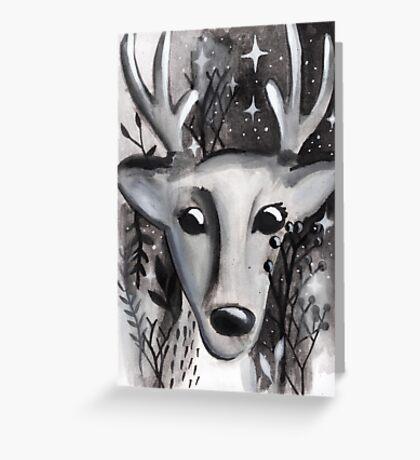 Starlight Deer Greeting Card