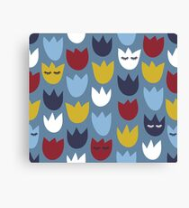 Spring Bed Of Tulips Leinwanddruck