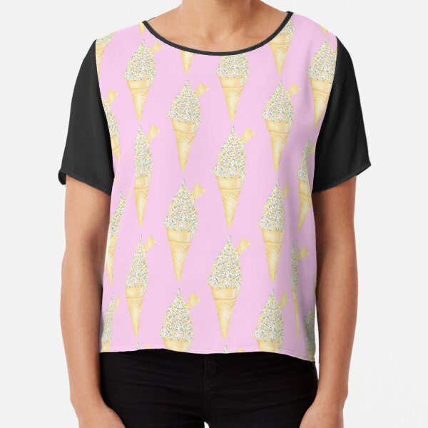 Soft Serve with Sprinkles - Pink Chiffon Top