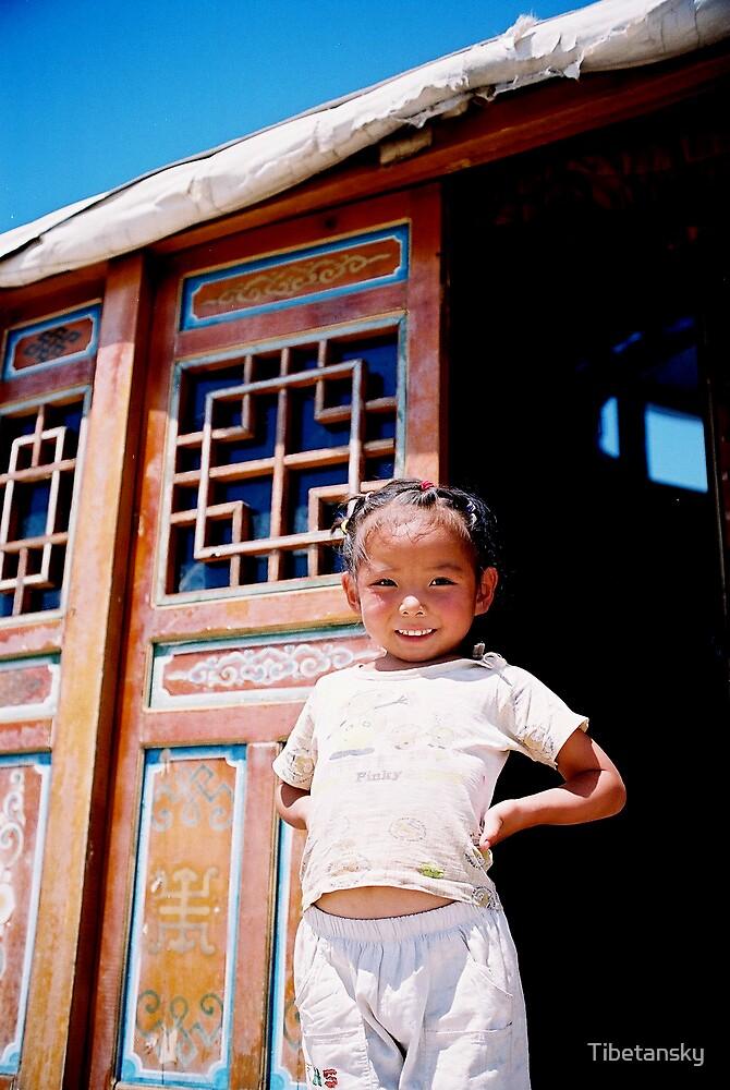 Little girl, Inner Mongolia by Tibetansky