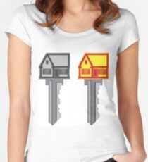 House key Women's Fitted Scoop T-Shirt