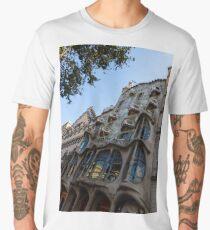 Looking Up to a Masterpiece - Antoni Gaudi's Casa Batllo in Barcelona, Spain Men's Premium T-Shirt