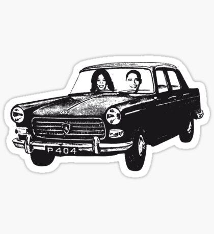 Oprah, Obama and Peugot 404 Sticker