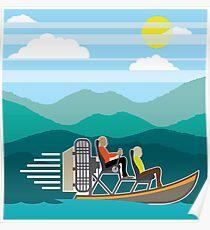 Swamp boat Poster