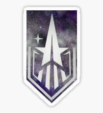 Silbernes Starfield Logo Sticker