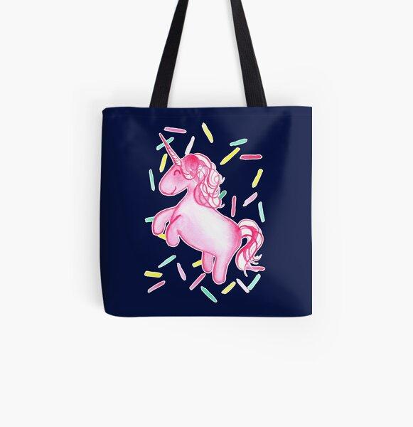 Ponicorn - Navy All Over Print Tote Bag