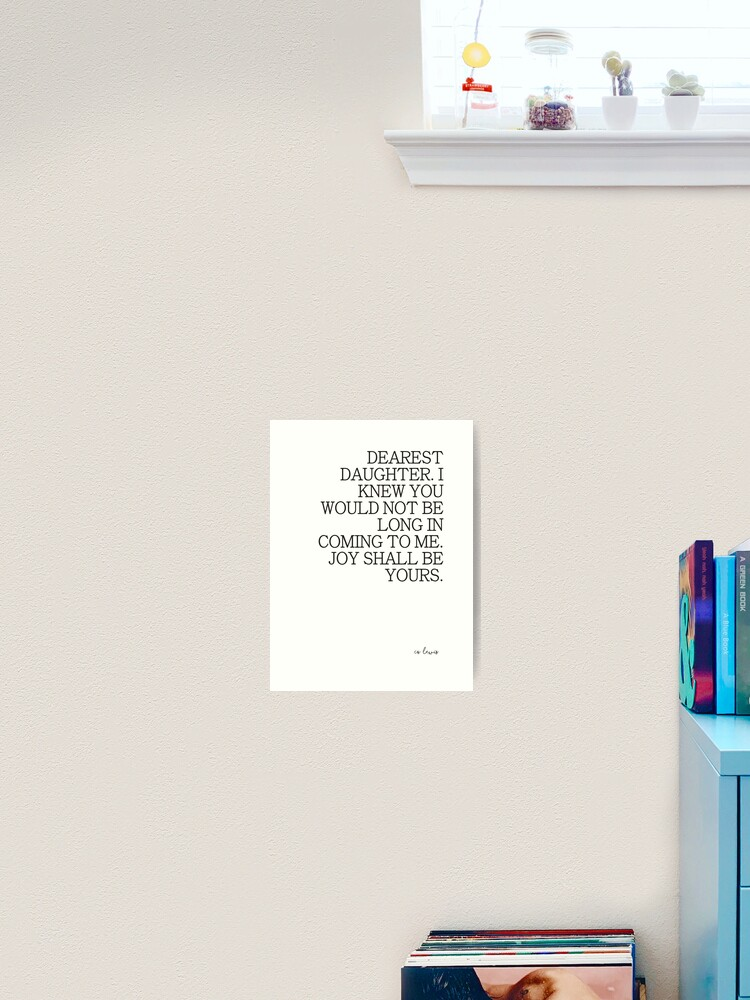 Gift Wall Art Book Nursery Lamppost ART PRINT Narnia Quote illustration