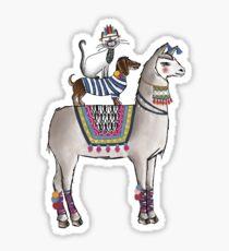 Loco Lama  Sticker