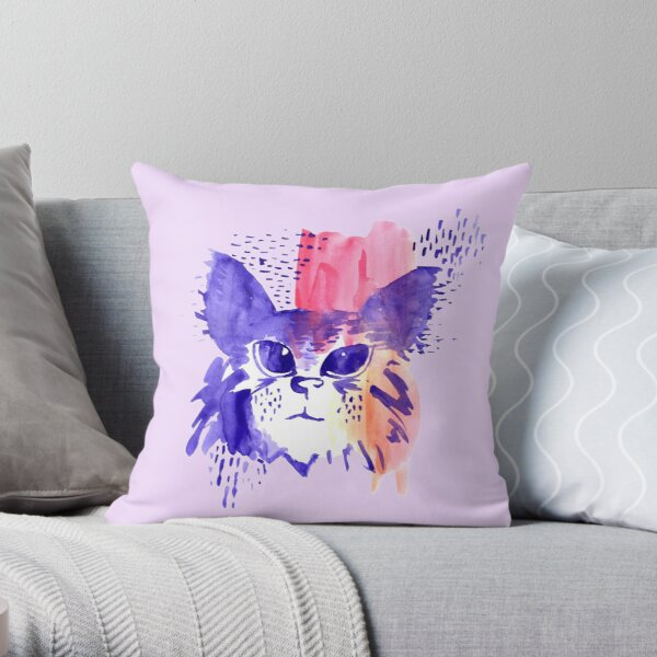 Lilacat Throw Pillow