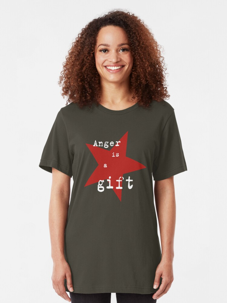 Alternate view of Anger is a gift Slim Fit T-Shirt