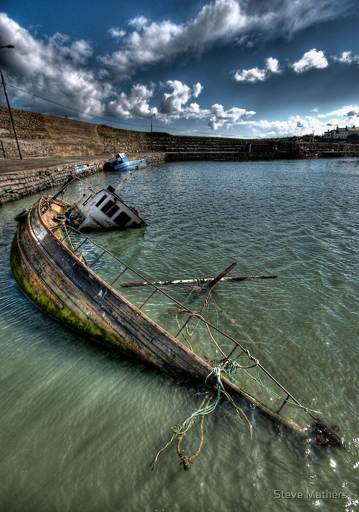 Wreck in Balbriggan Harbour by Steve Mathers