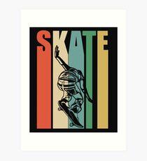 Skateboarding Retro Design - Skate Art Print