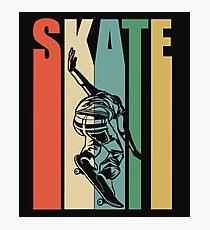 Skateboarding Retro Design  Photographic Print