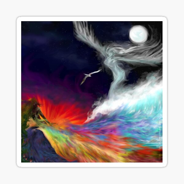 Colours Of The imagination: Symbolic Flows Sticker