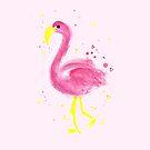Flamingo a go go  by makemerriness