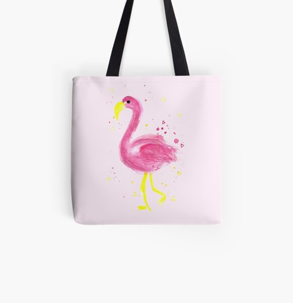 Flamingo a go go  All Over Print Tote Bag