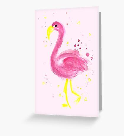 Flamingo a go go  Greeting Card