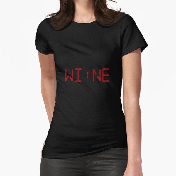 WINE O'clock funny digital alarm clock amusing design Fitted T-Shirt