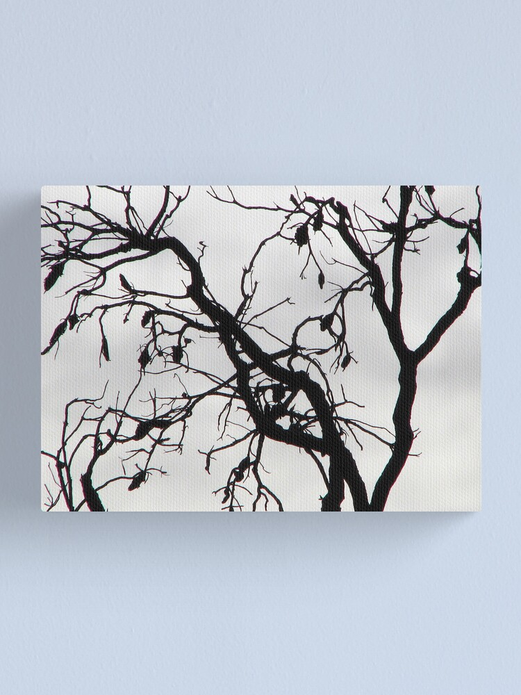 Alternate view of Spooky Tree Canvas Print