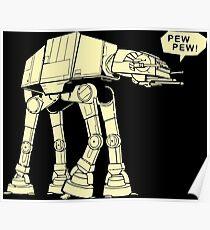 Funny Star Wars Design  Poster