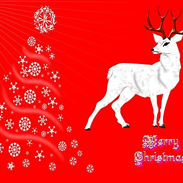 A White Hart Merry Christmas card, etc. design by ZipaC