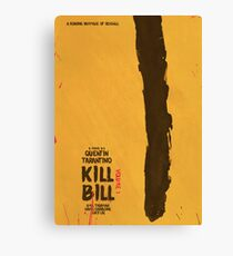 Kill Bill, Quentin Tarantino, movie poster, alternative, minimal version Canvas Print