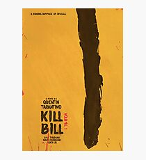 Kill Bill, Quentin Tarantino, movie poster, alternative, minimal version Photographic Print