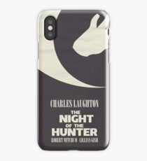 The Night of the Hunter, Fine Art Print, Movie Poster, Charles Laughton, Robert Mitchum, glicée, Alternative, Minimal, old film, classic iPhone Case/Skin