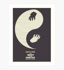 The Night of the Hunter, Fine Art Print, Movie Poster, Charles Laughton, Robert Mitchum, glicée, Alternative, Minimal, old film, classic Art Print