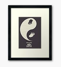 The Night of the Hunter, Fine Art Print, Movie Poster, Charles Laughton, Robert Mitchum, glicée, Alternative, Minimal, old film, classic Framed Print