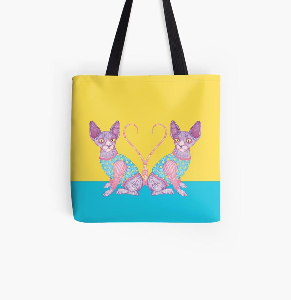 The Clowncat (Sphynx) All Over Print Tote Bag