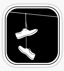 Shoes on a Line (small) Sticker