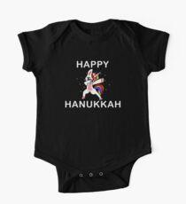 Happy Hanukkah Dabbing Unicorn Jewish Humor Tshirt  Kids Clothes
