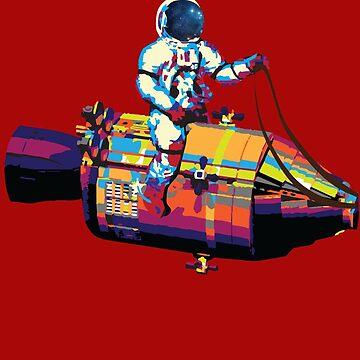 Apollo 11 Spaceman by colourfix