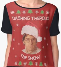 Dashing Theroux the snow - Louis Theroux themed Women's Chiffon Top