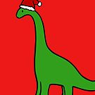Christmas Brachiosaurus by jezkemp
